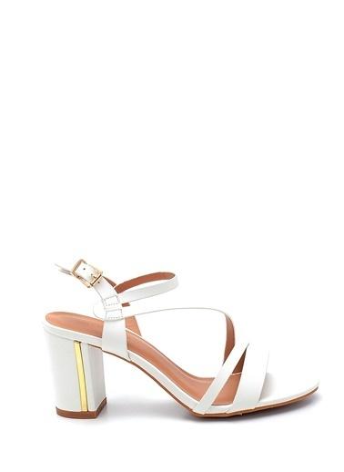 Derimod Kadın Topuklu Sandalet Beyaz